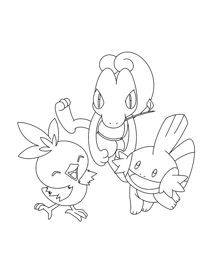 Pokemon Mudkip Coloring Pages
