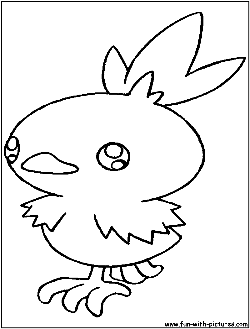 800x1050 Excellent Torchic Coloring Pages Pokemon Collection For Kids