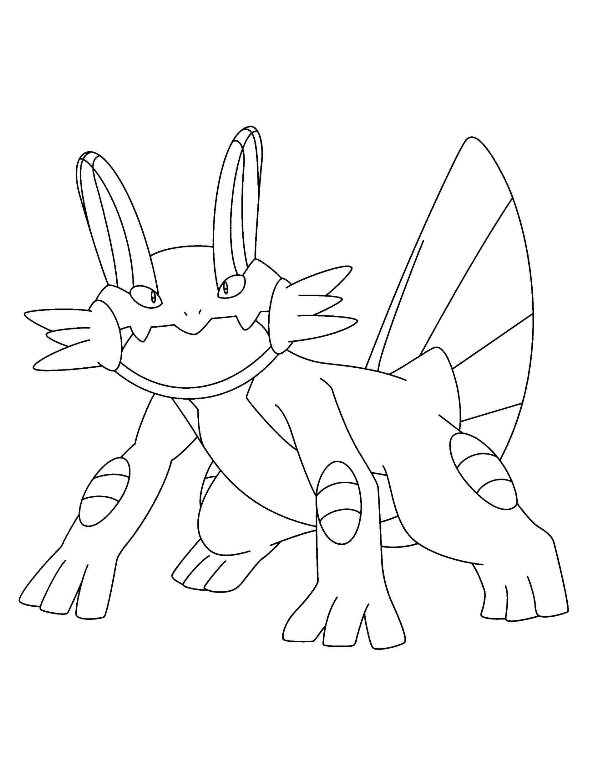 1896x2449 Marshtomp Pokemon Coloring Pages B Printable Mudkip Google
