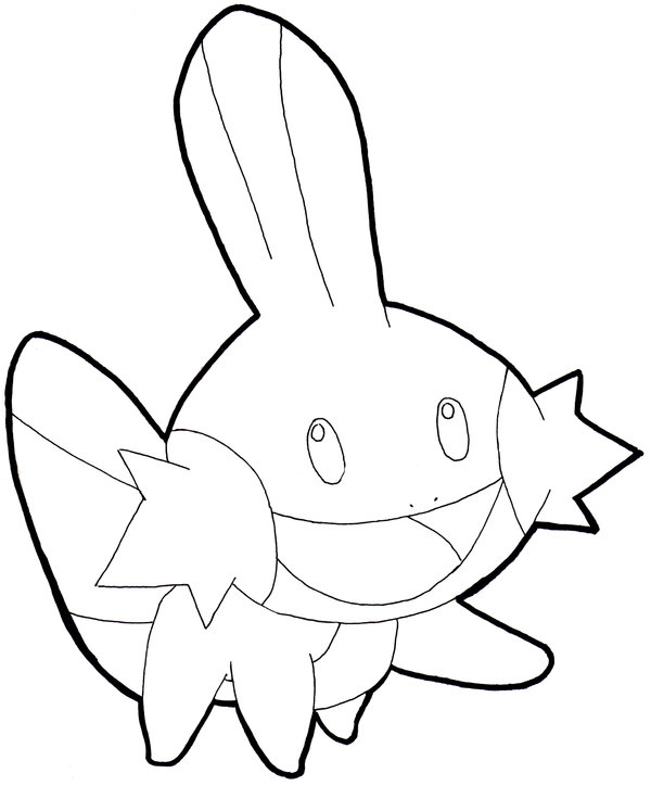 600x724 Mudkip Coloring Pages