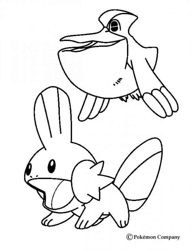 651x850 Mudkip And Pelipper Coloring Pages