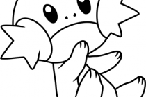 210x140 Mudkip Coloring Pages Mudkip Pokemon Coloring Page Free Pokmon
