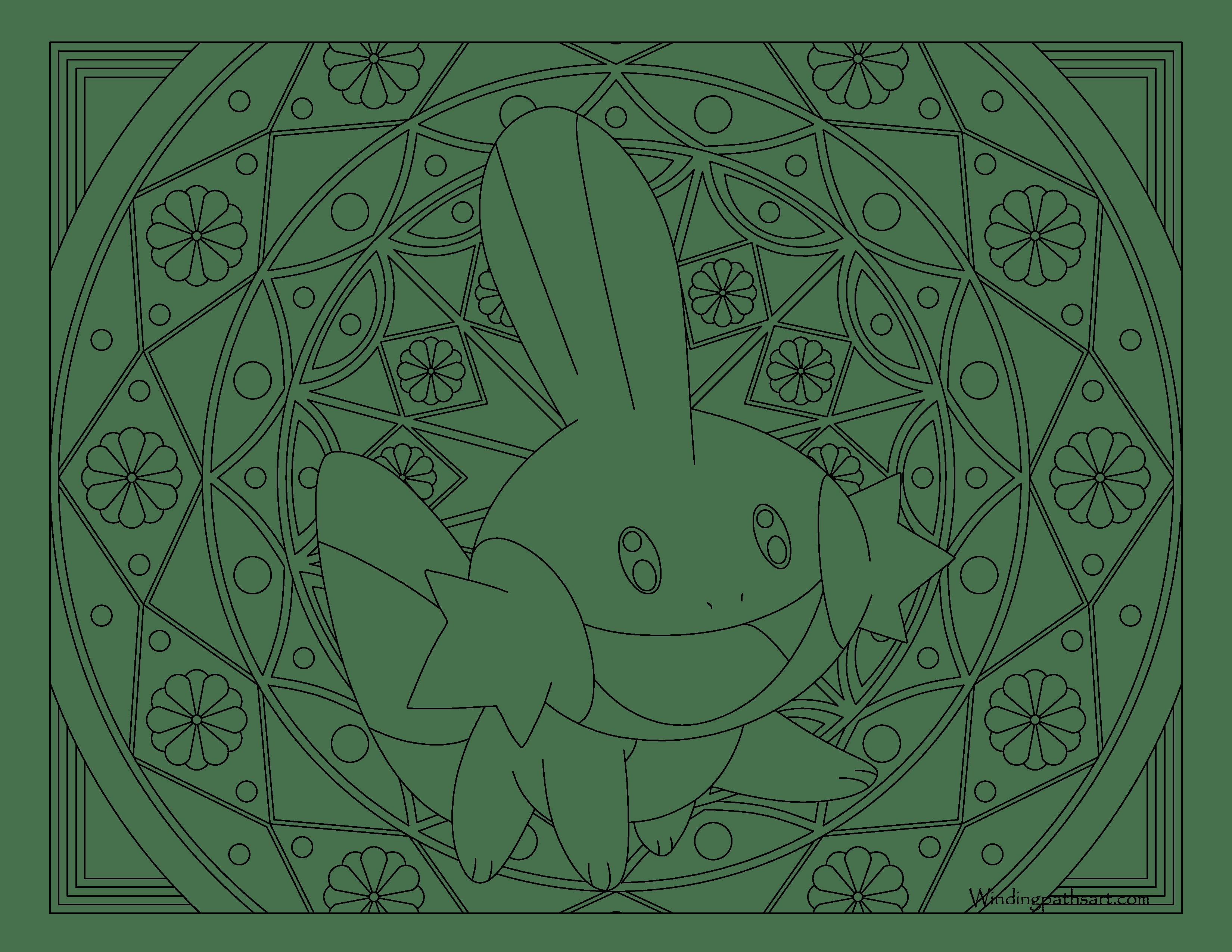 3300x2550 Mudkip Pokemon Coloring Page