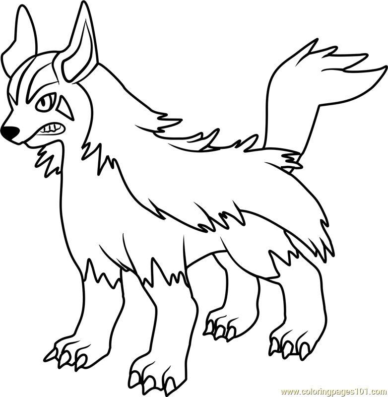 782x800 Pokemon Mightyena Coloring Pages