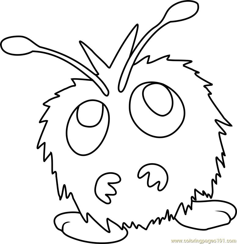 776x800 Venonat Pokemon Coloring Page