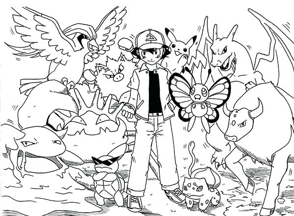 Pokemon Pictures Coloring Pages At Getdrawings Com Free For