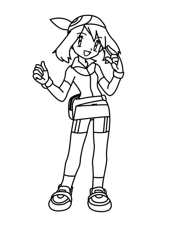 736x960 Pokemon Trainer Coloring Pages