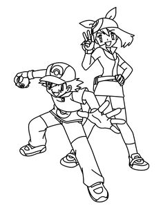 236x304 Pokemon Advanced Coloring Pages Color Pokemon Trainers Humans