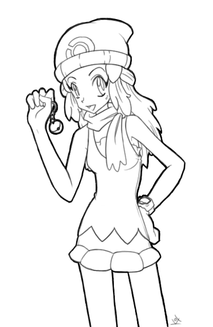 415x637 Stylish Design Pokemon Dawn Coloring Pages