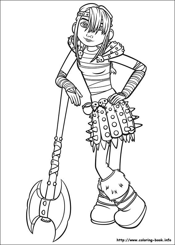 567x794 Dragon Trainer Coloring Page