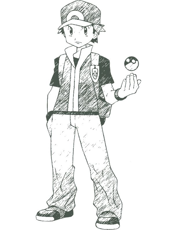 612x792 Fire Red Pokemon Coloring Pages Pokemon Trainer Red