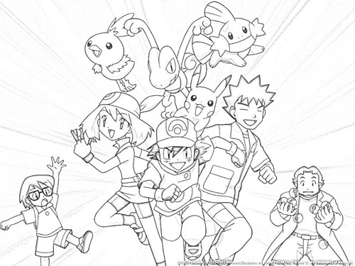 500x375 Free Coloring Pages For Kids Pokemon Pikachu Coloring Pages