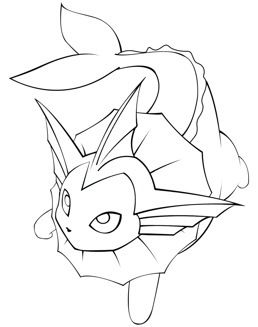900x1142 Fresh Vaporeon Coloring Pages Cool Ideas For You