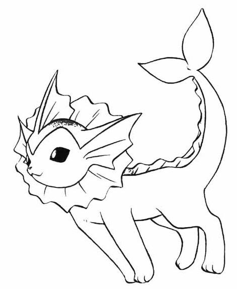 479x585 Pokemon Vaporeon Coloring Pages