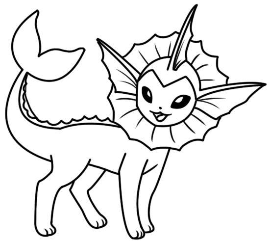 551x491 Vaporeon Coloring Page