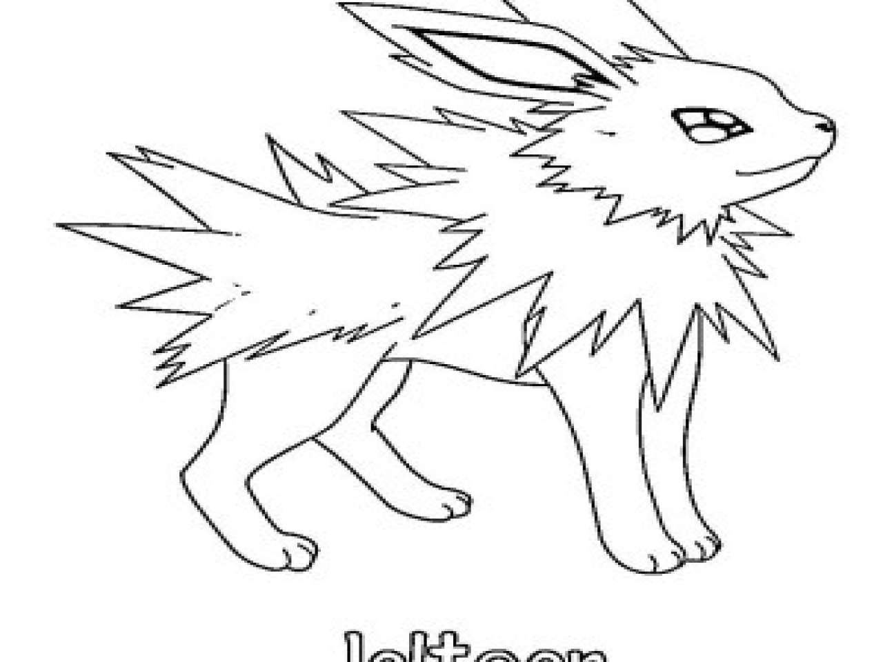 1280x960 Flareon Coloring Pages Page And Vaporeon Jolteon Kids