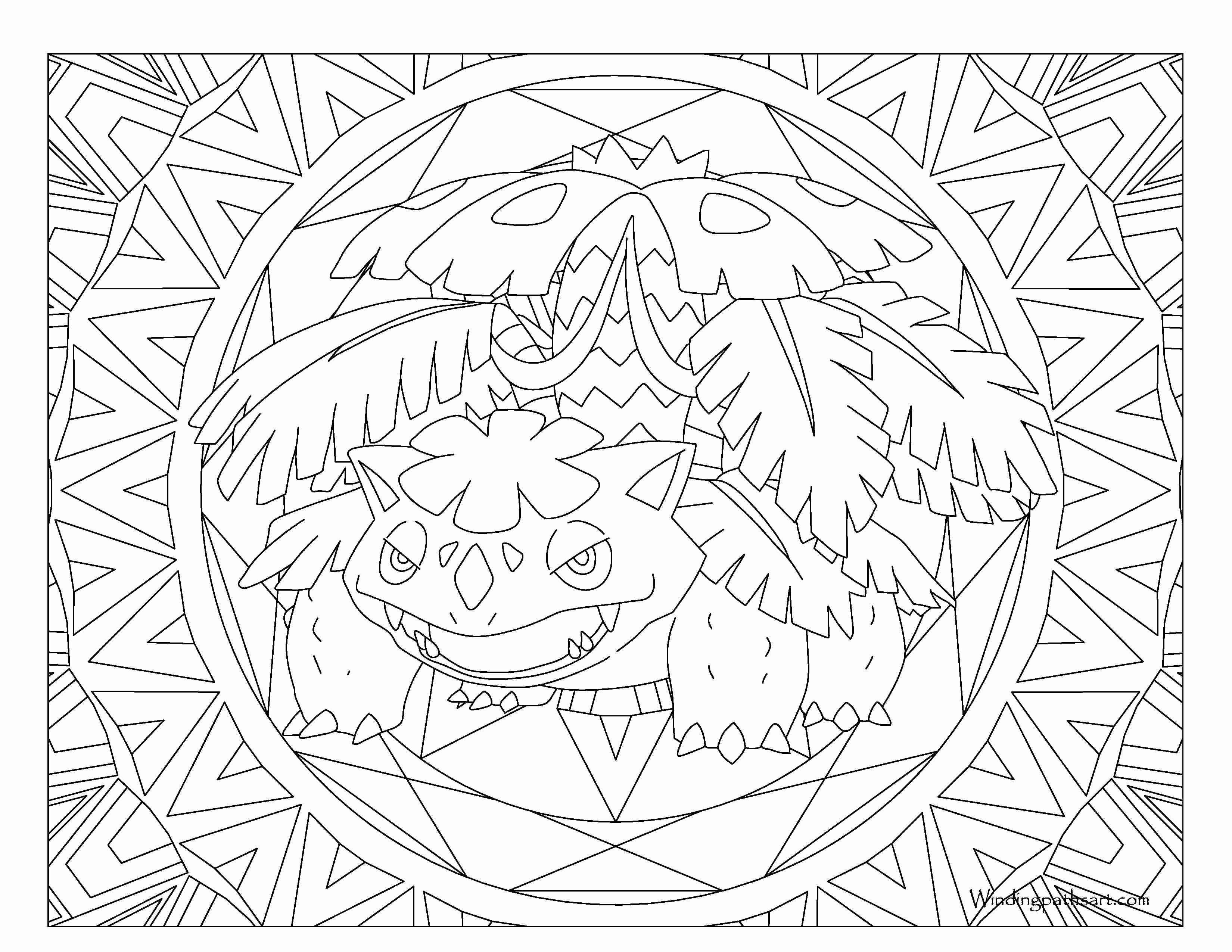 3300x2550 Venusaur Pokemon Coloring Page Windingpathsart Com Noticeable