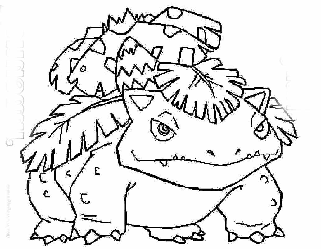1034x801 Cool Venusaur Coloring Pages Pokemon Fushigibana Page Quincy
