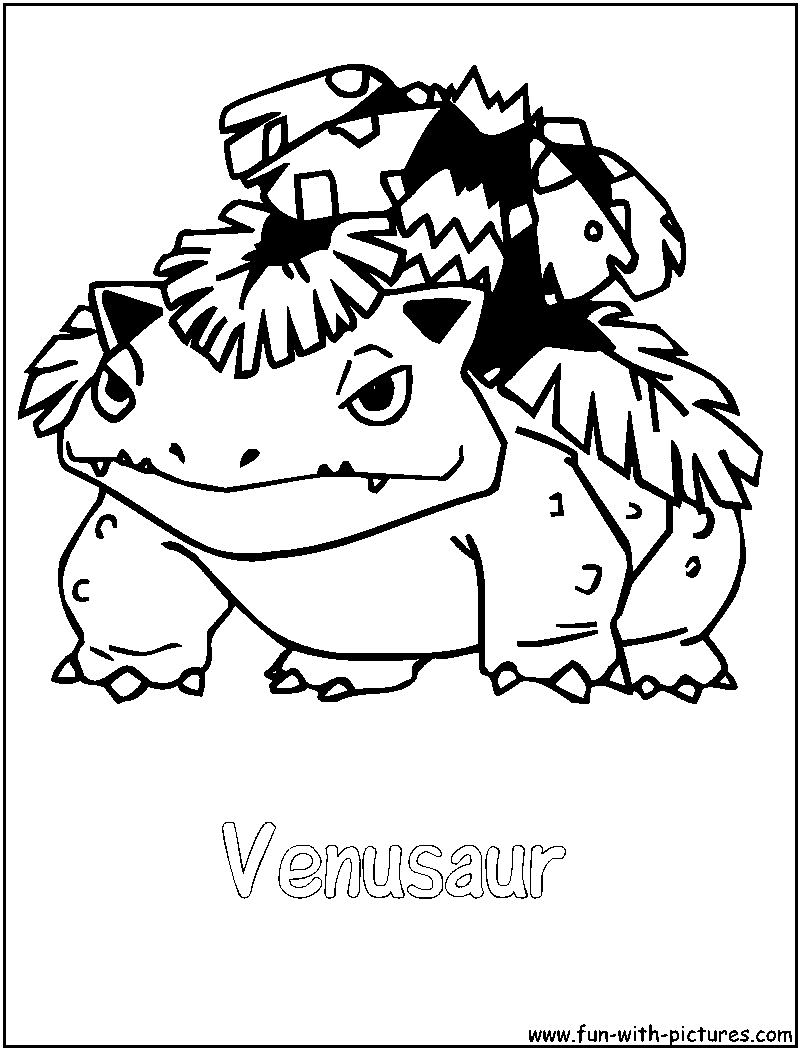 800x1050 Venusaur Coloring Page