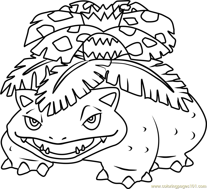 800x731 Venusaur Pokemon Coloring Page