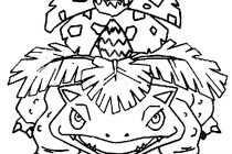210x140 Venusaur Coloring Page Coloring Pages Pokemon Venusaur Drawings