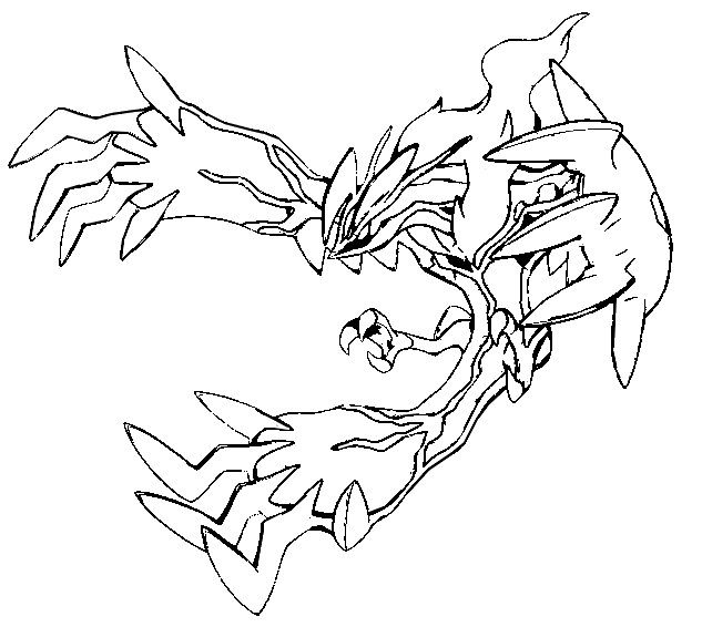 633x566 Legendary Pokemon X And Y Coloring Pages