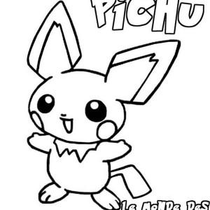 300x300 Little Pikachu Pokemon Coloring Pages Bulk Color Pokemon