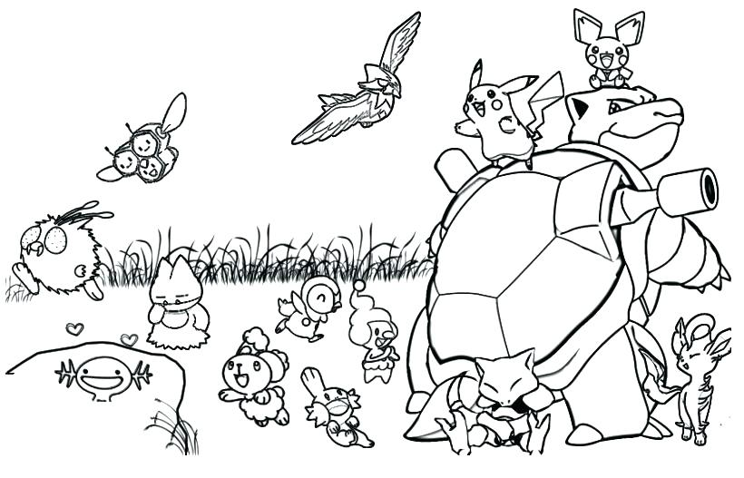 820x527 Pokemon Coloring Pages Free And Coloring Pages Pokemon X And Y
