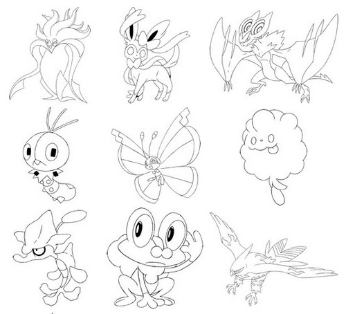 500x454 Pokemon X Y Coloring Pages