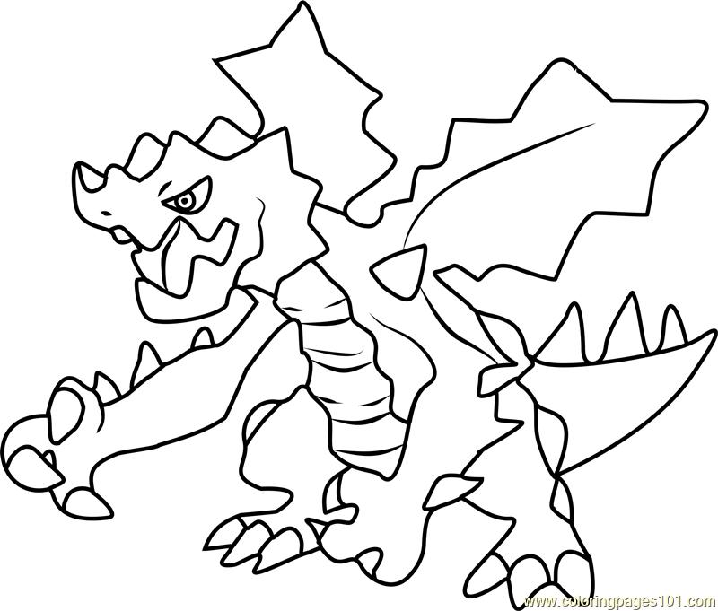 800x681 Druddigon Pokemon Coloring Page