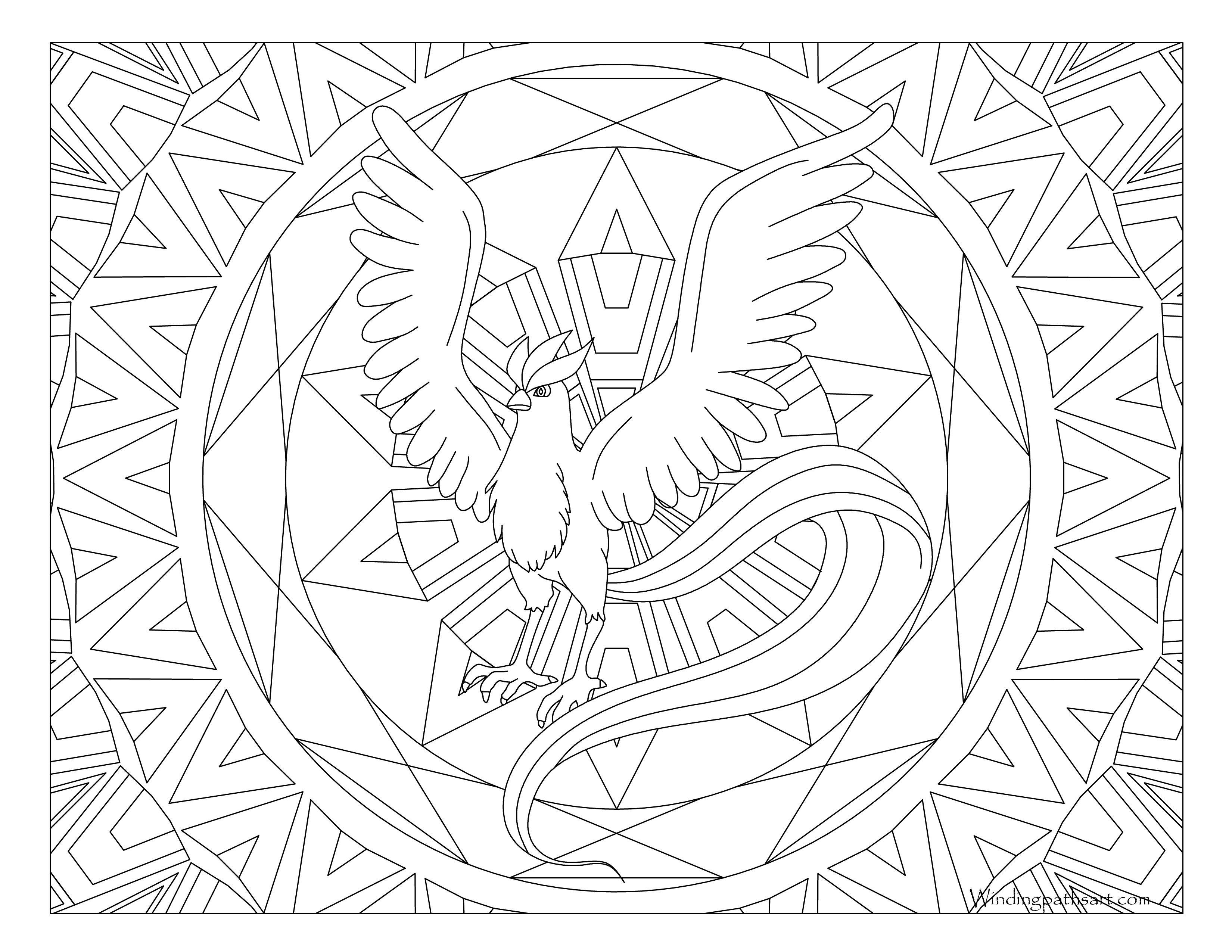 Pokemon Zapdos Coloring Pages
