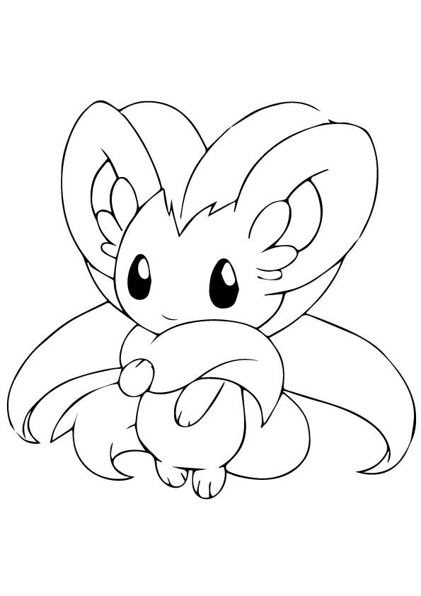 Pokemon Zorua Coloring Pages