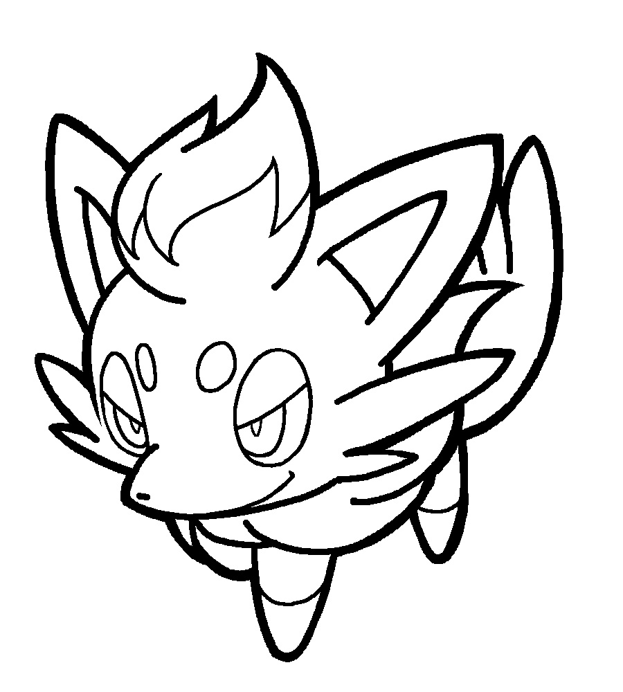 The Best Free Zorua Coloring Page Images Download From 34 Free
