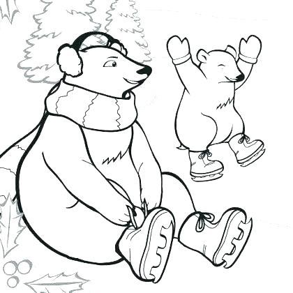 420x420 Coloring Pages Polar Bear Prt Polar Bear Coloring Pages