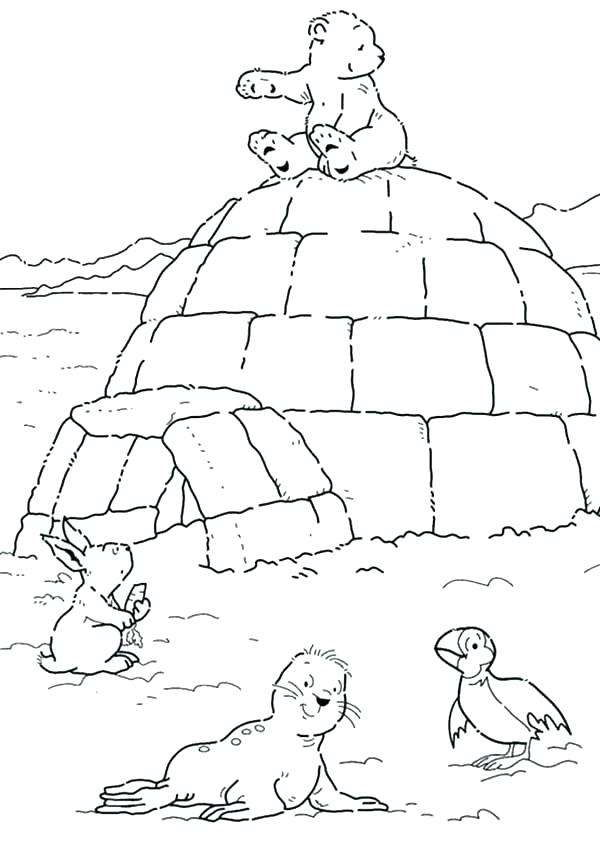 600x843 Polar Bears Coloring Pages Polar Bear Coloring Pages