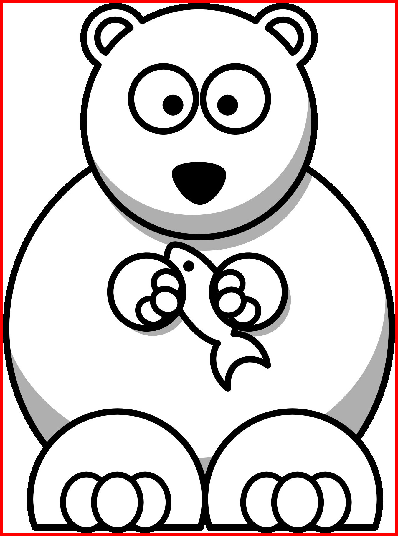 1351x1817 Incredible Little Polar Bear Coloring Pages Stock Cute For Trend