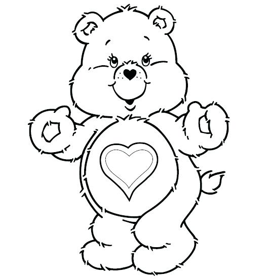 529x554 Little Bear Coloring Pages Click To See Printable Version