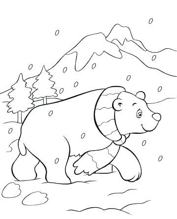 360x445 Polar Bear Coloring Pages Printable Panda Bear Coloring Pages