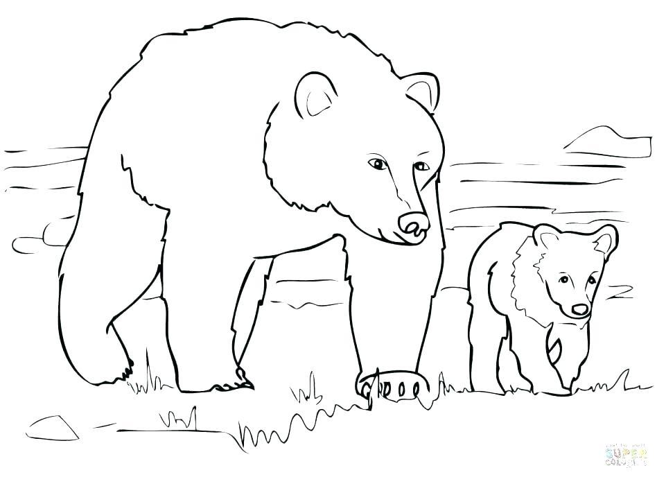 948x688 Printable Polar Bear