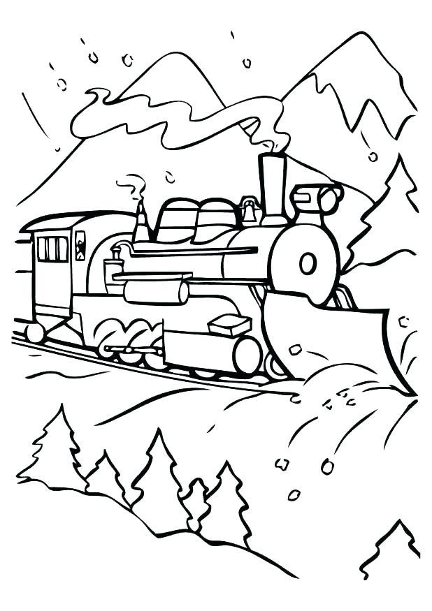 618x875 Polar Express Coloring Page Polar Express Coloring Page Polar