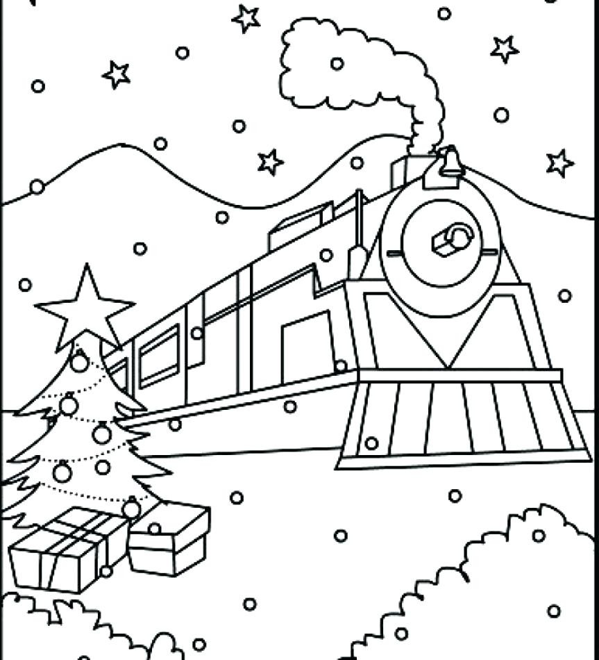863x950 Stylish And Peaceful Polar Express Coloring Pages Printable