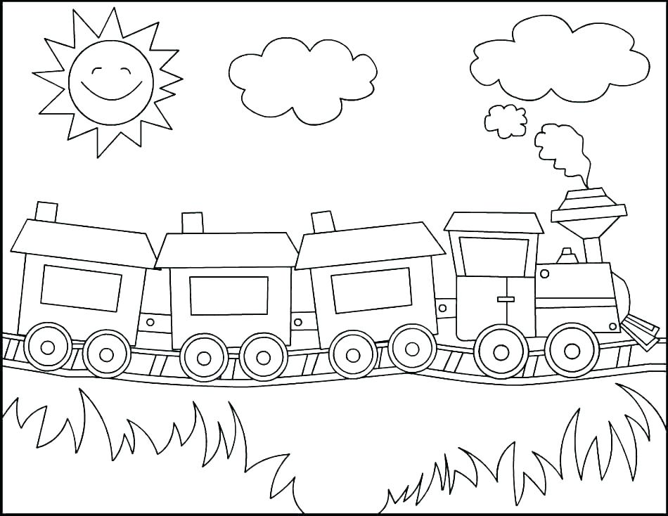 950x734 Train Coloring Pages To Print Polar Express Train Coloring Pages