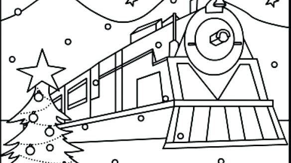 585x329 Polar Express Coloring Page Polar Express Coloring Pages Train