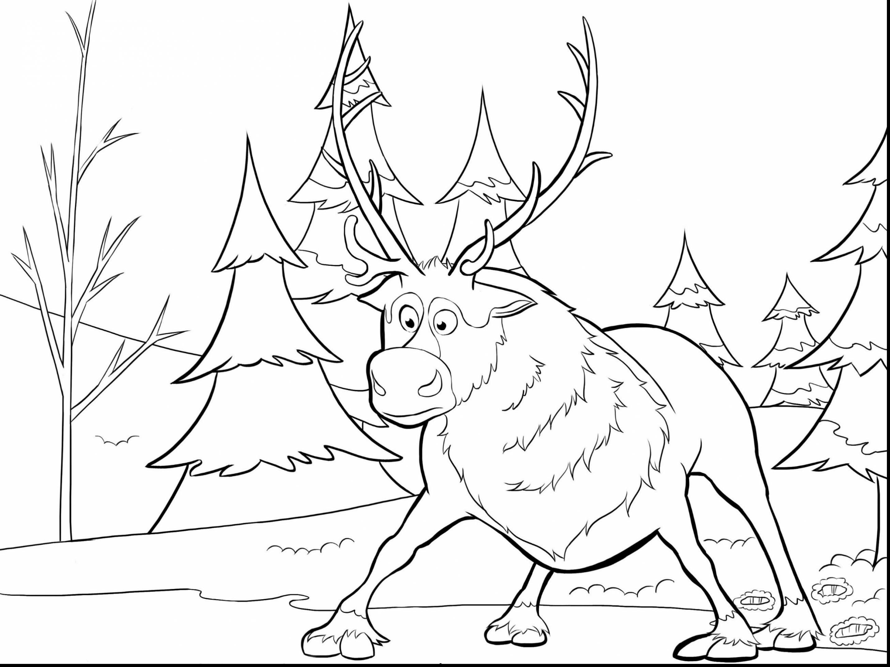 2861x2146 Amazing Express Train Coloring Page With Polar And Pages