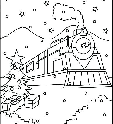 386x425 Polar Express Coloring Page Polar Express Coloring Polar Express