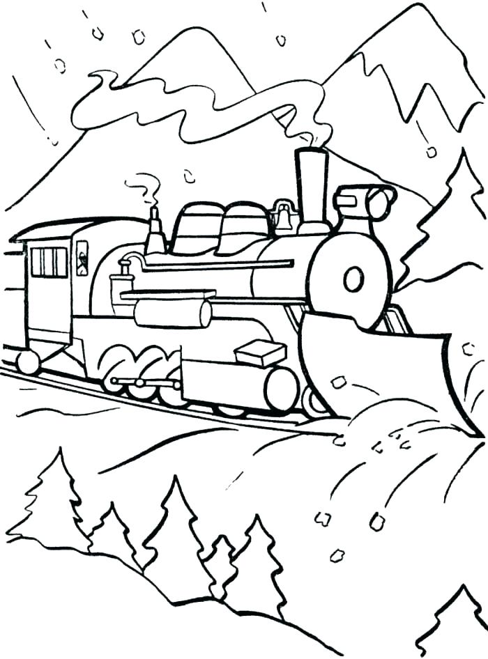 700x946 Polar Express Train Coloring Pages Polar Express Coloring Page