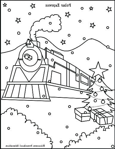 386x500 Polar Express Train Coloring Pages Polar Express Train Coloring