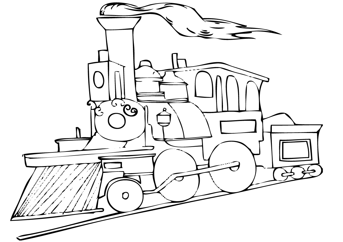 1200x848 Printable Polar Express Train Coloring Pages