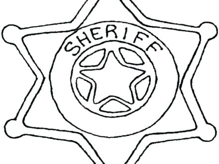 440x330 Police Badge Coloring Page Awesome Police Officer Badge Coloring