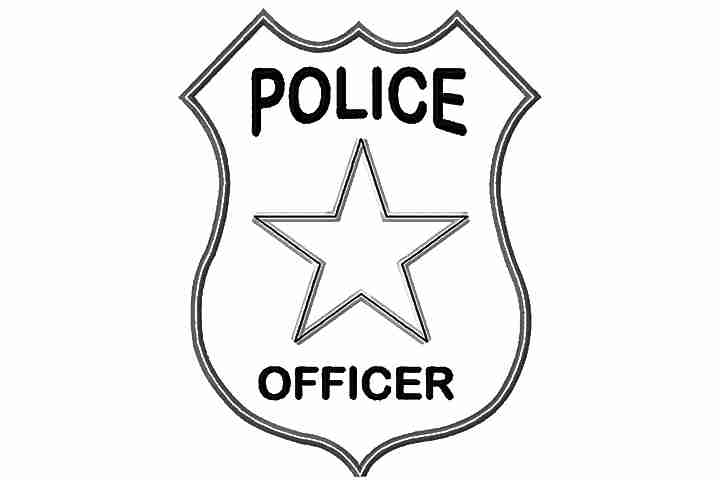 720x480 Police Badge Coloring Page Barriee For Extraordinary Olegratiy